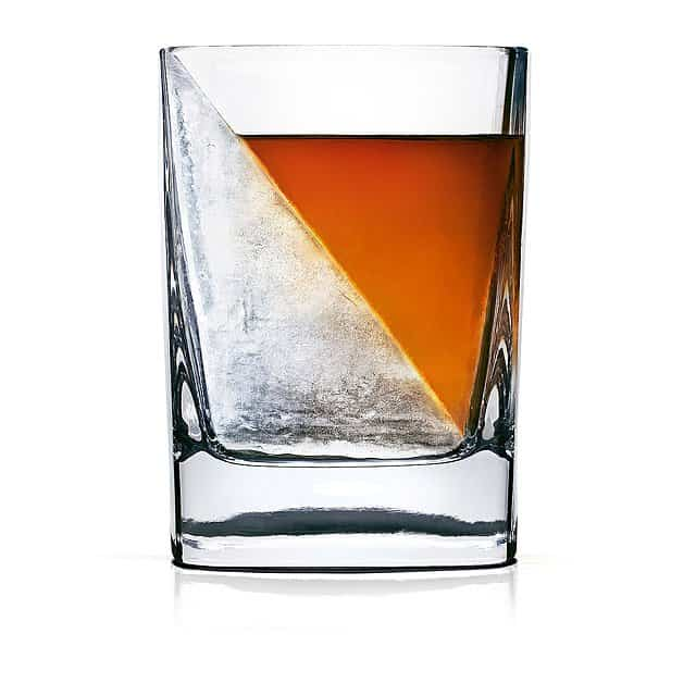 gifts for whiskey lovers: whiskey wedge and glass