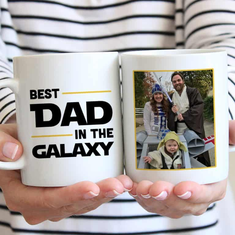 star wars gift ideas for dad: best dad in the galaxy photo mug