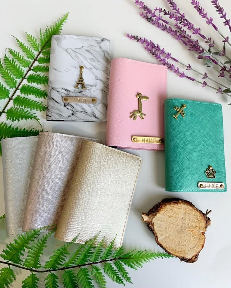 best friend gift: Personalized Passport Cover