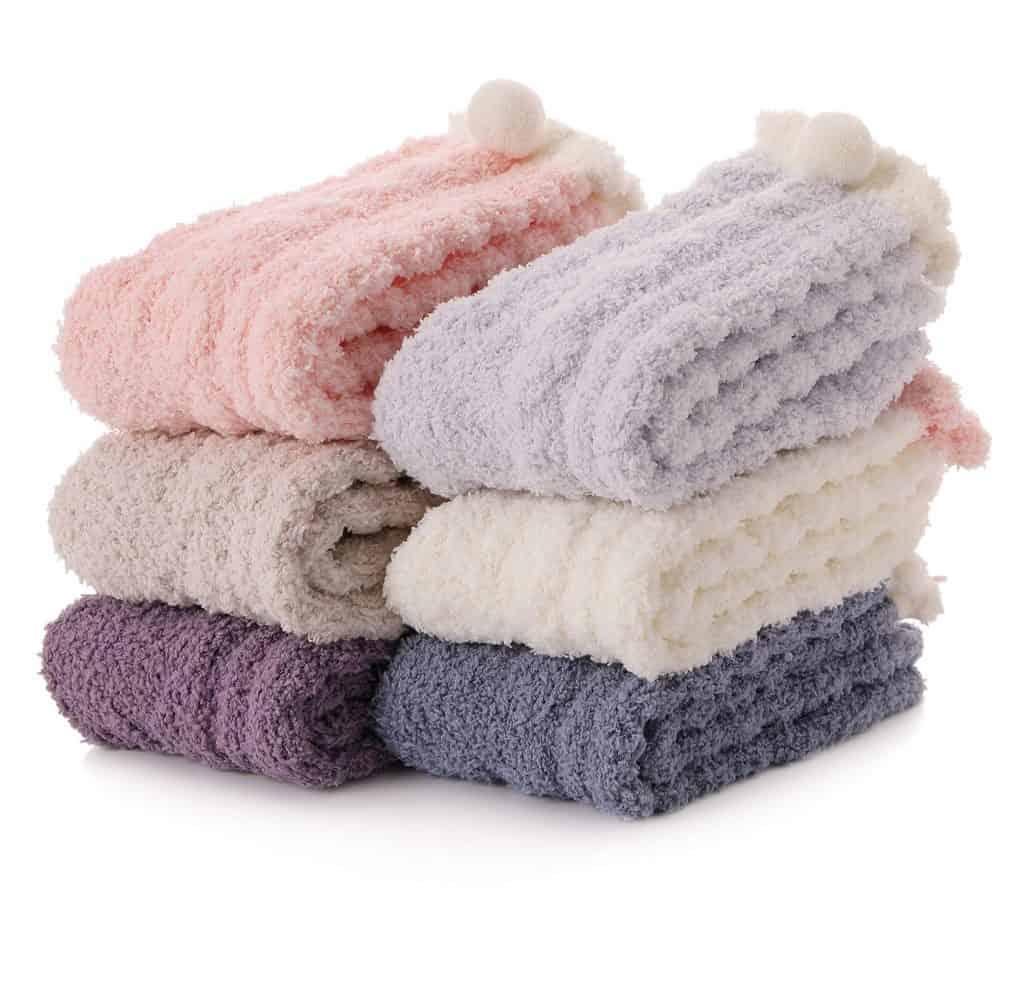 cutest stocking stuffers: Fuzzy Slipper Socks