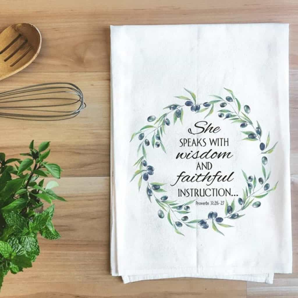 kitchen towel - Christian gifts for women