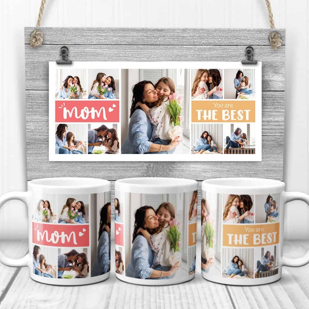 christmas gifts for mom: custom photo coffee mug
