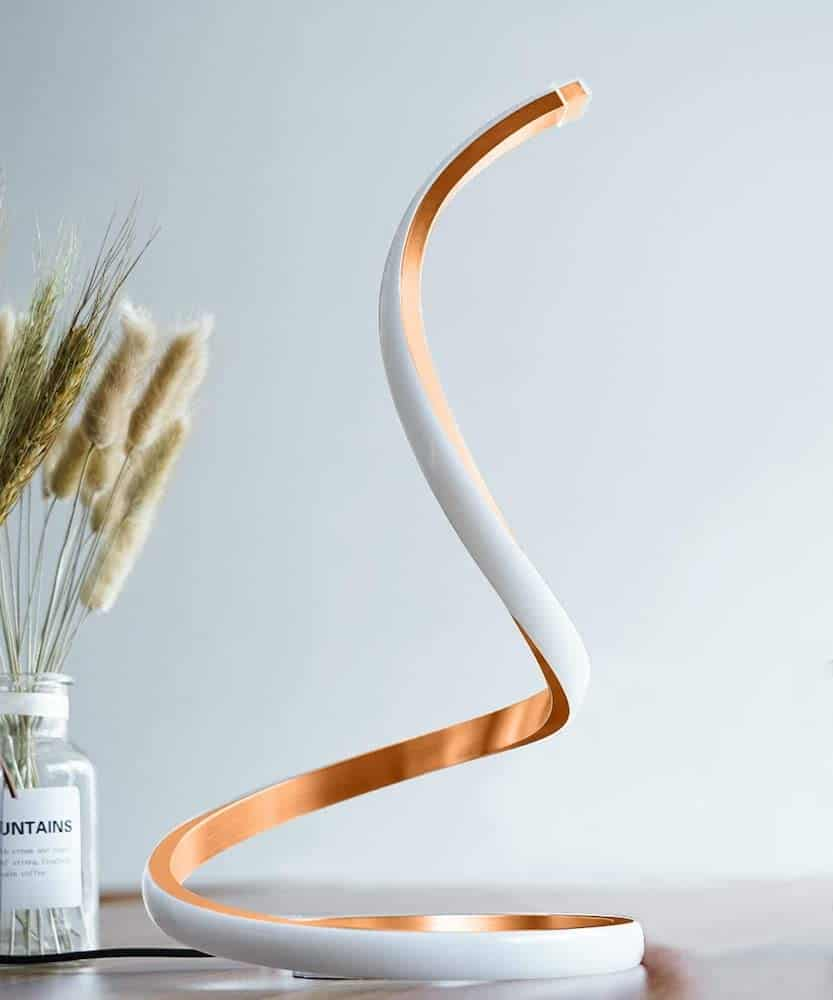 Spiral LED Table Lamp - A Tech Gift For