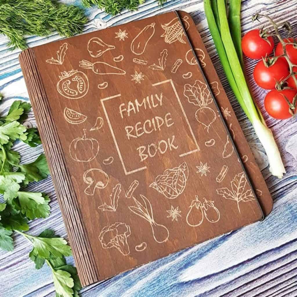 Wooden Recipe Book