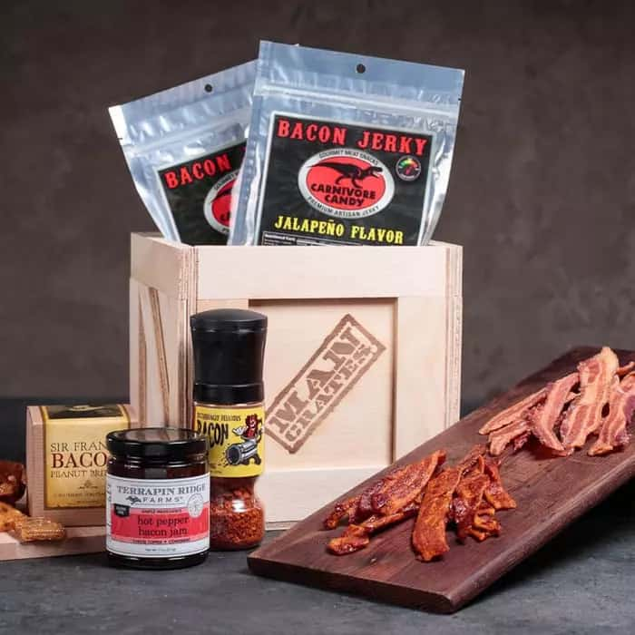 gift ideas for men who love meat: bacon crate