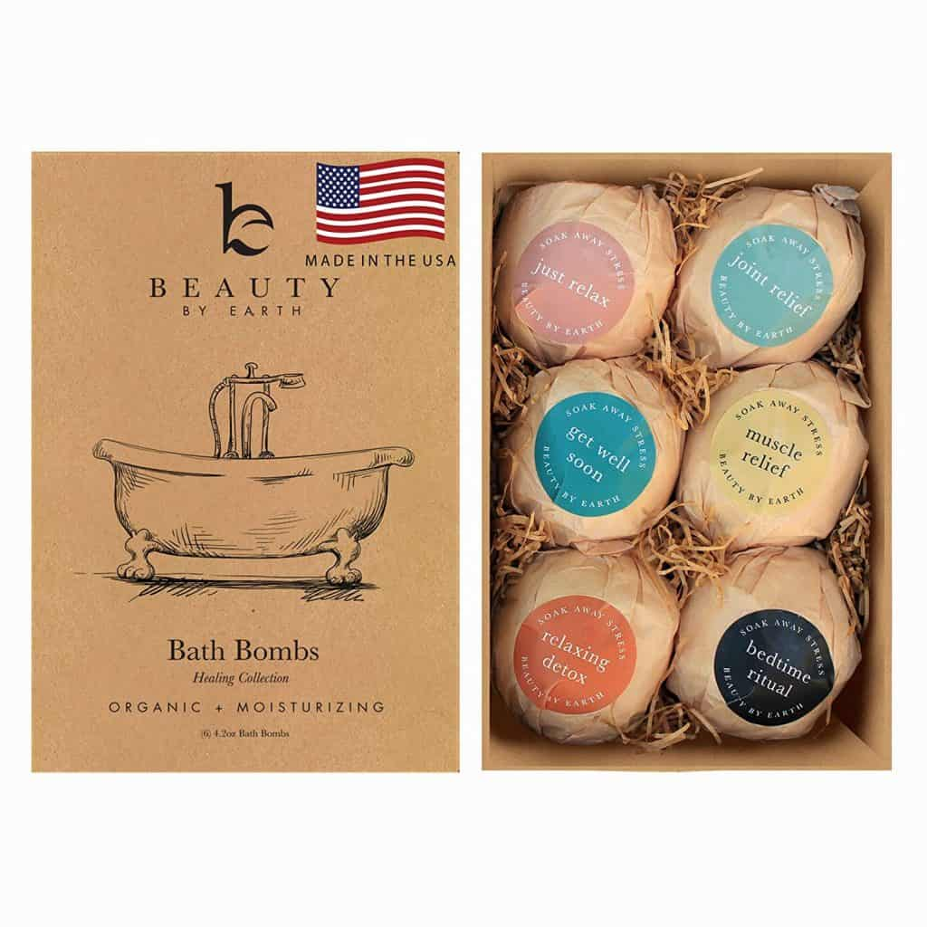 stocking stuffer ideas for her: bath bomb gift set