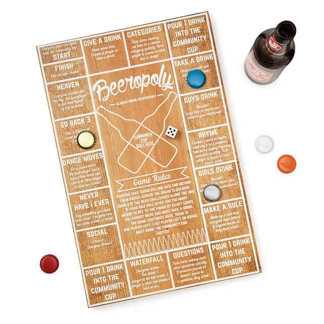 gifts for beer lovers: beeropoly game