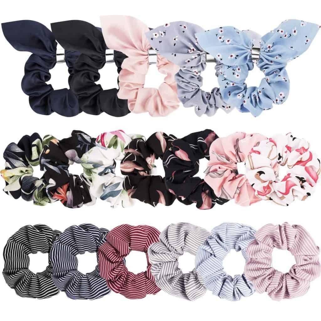 stocking stuffers for tween girl: chiffon scrunchies