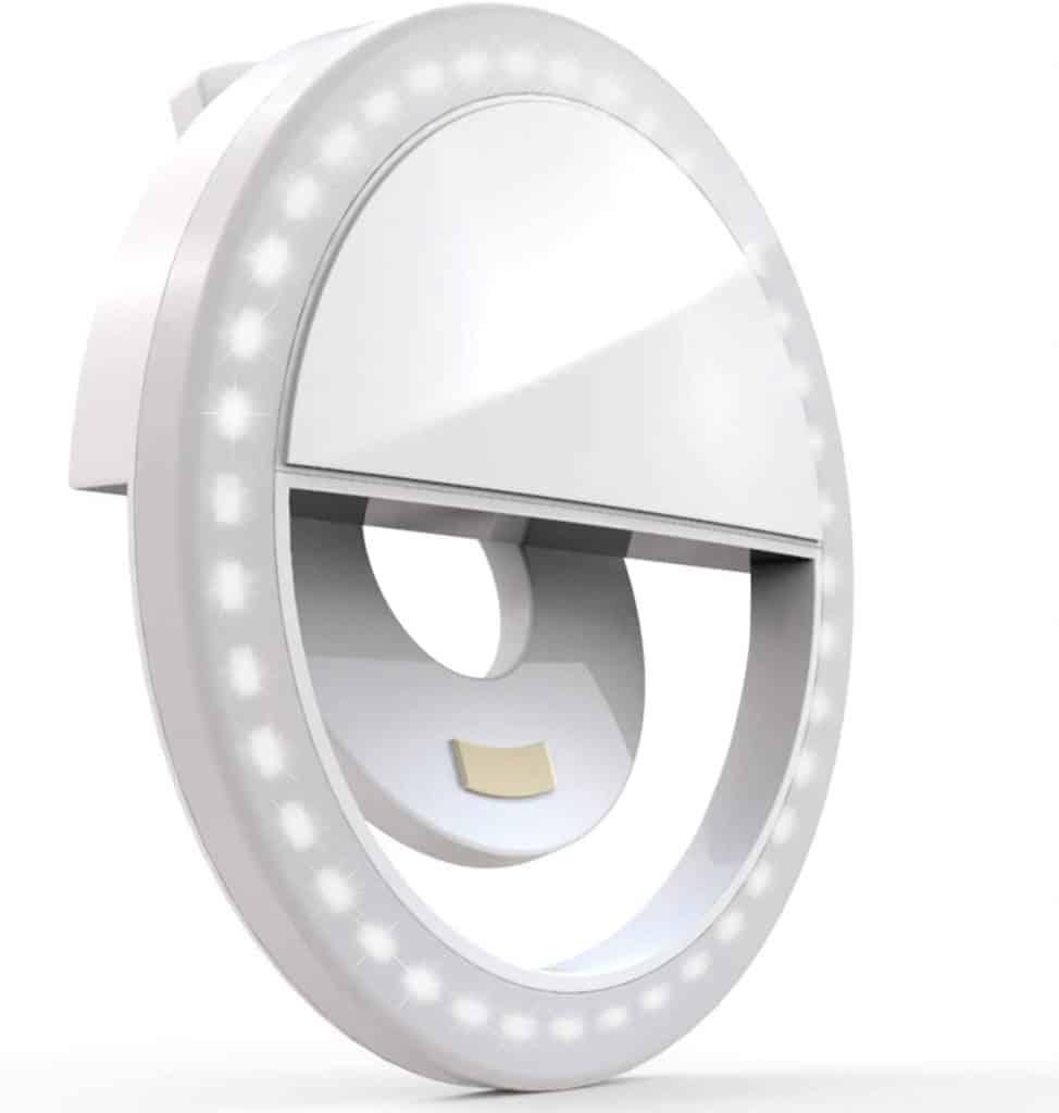 stocking stuffer ideas for girlfriend: Clip on Selfie Ring Light