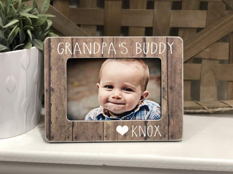 gifts for grandpa: grandpa's buddy custom photo frame