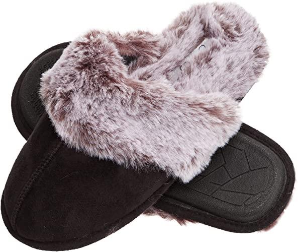 stocking stuffer ideas for women: faux fur slippers