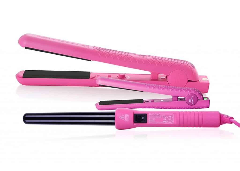 stocking stuffer ideas for her: Flat Iron and Curling Iron Set