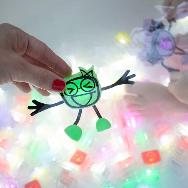 cheap stocking stuffer ideas for kids: Glowing Bath Time Buddies