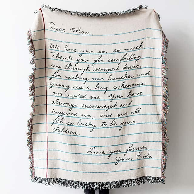 Personalized Hand-Written Letter Blanket