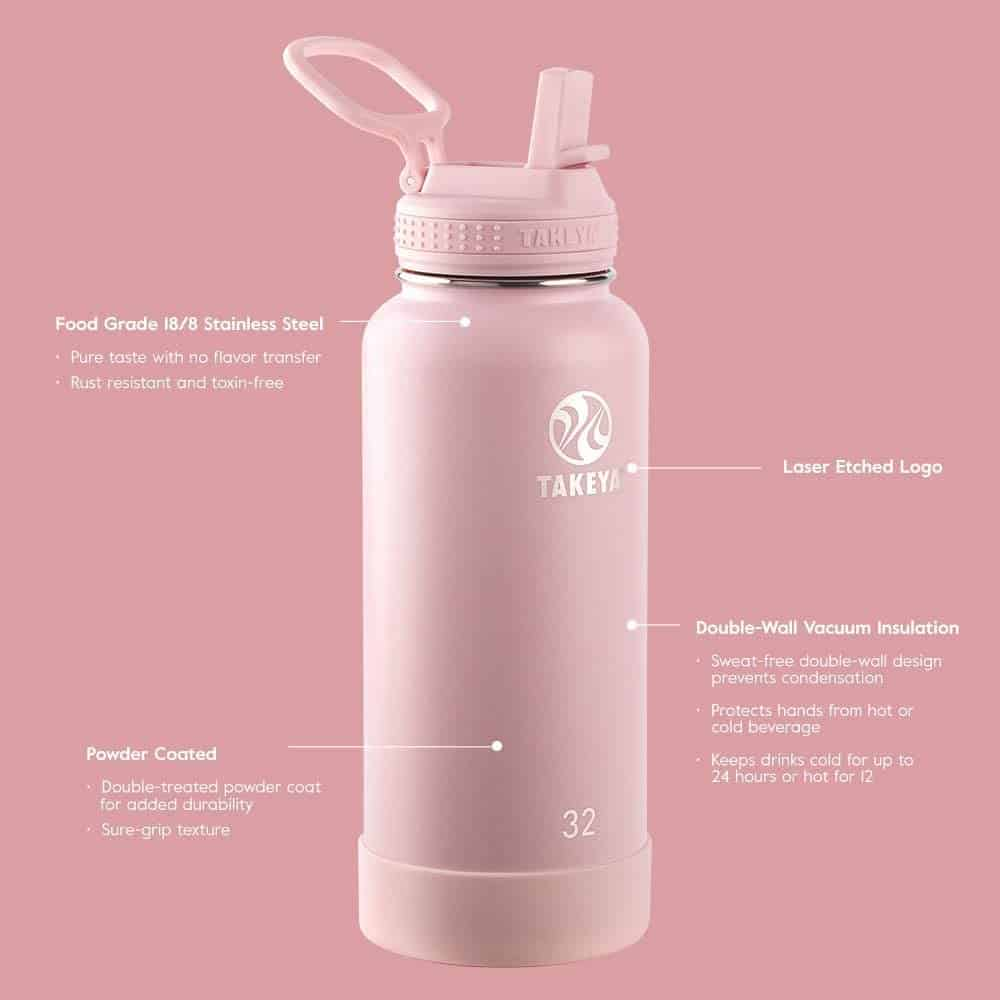 gift ideas for yoga lovers: insulated stainless steel water bottle
