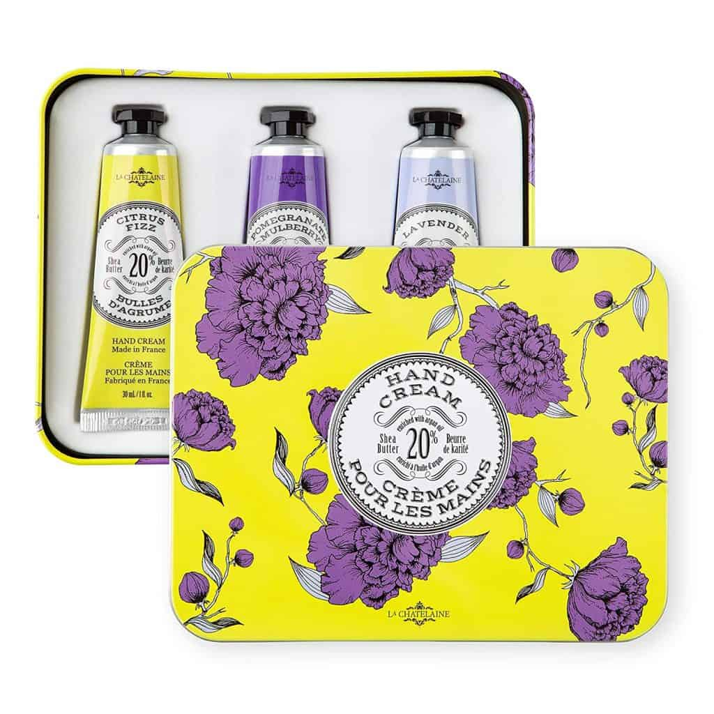 nice gifts for mom: La Chatelaine Deluxe Hand Cream Chartreuse Collection