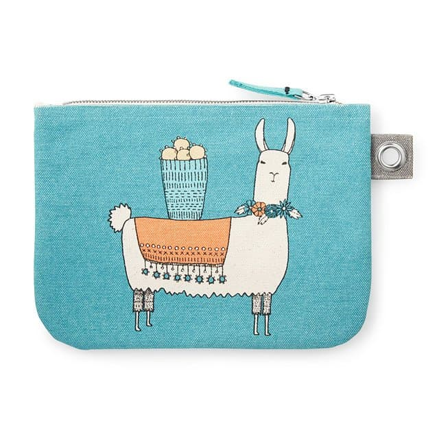 cute stocking stuffers ideas: Llamarama Large Zipper Pouch