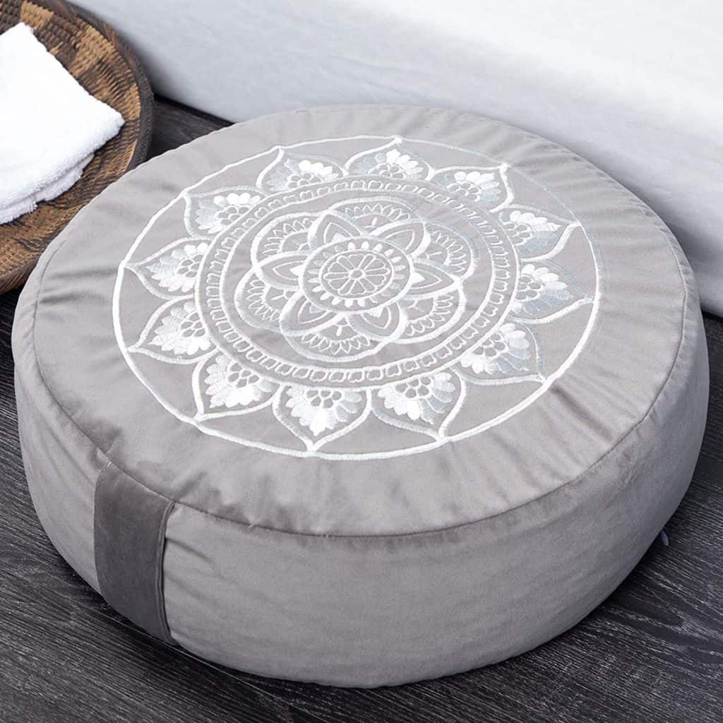 yoga gifts ideas: meditation cushion