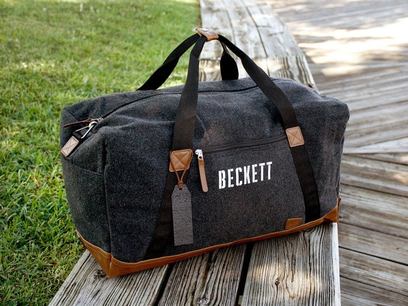 gifts for men: Personalized Duffel Bag