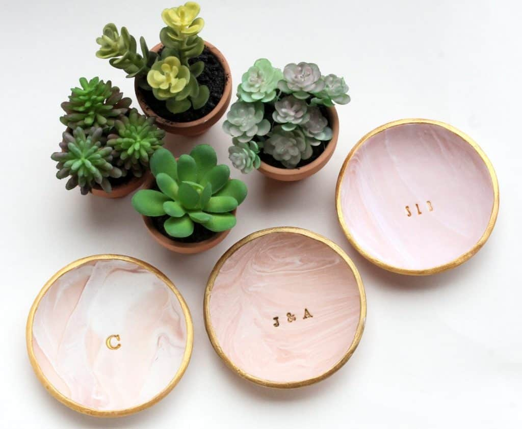 stocking stuffers for women: Personalized ring dish