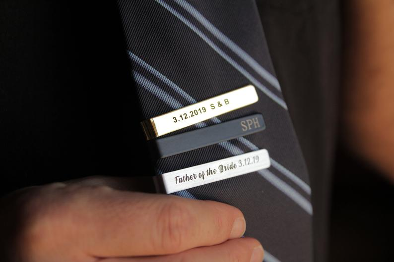 unique gifts for men: Personalized Tie Clip