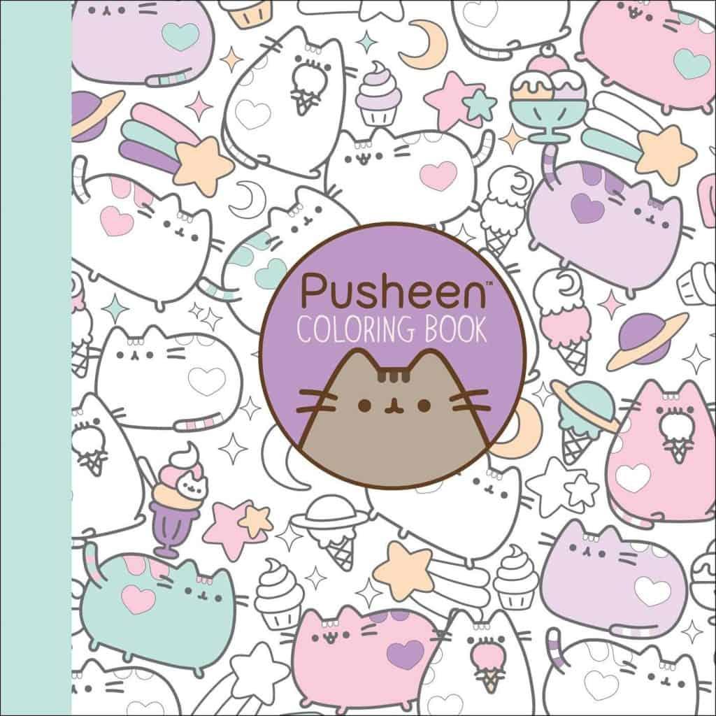 stocking stuffer ideas for girls: pusheen coloring book