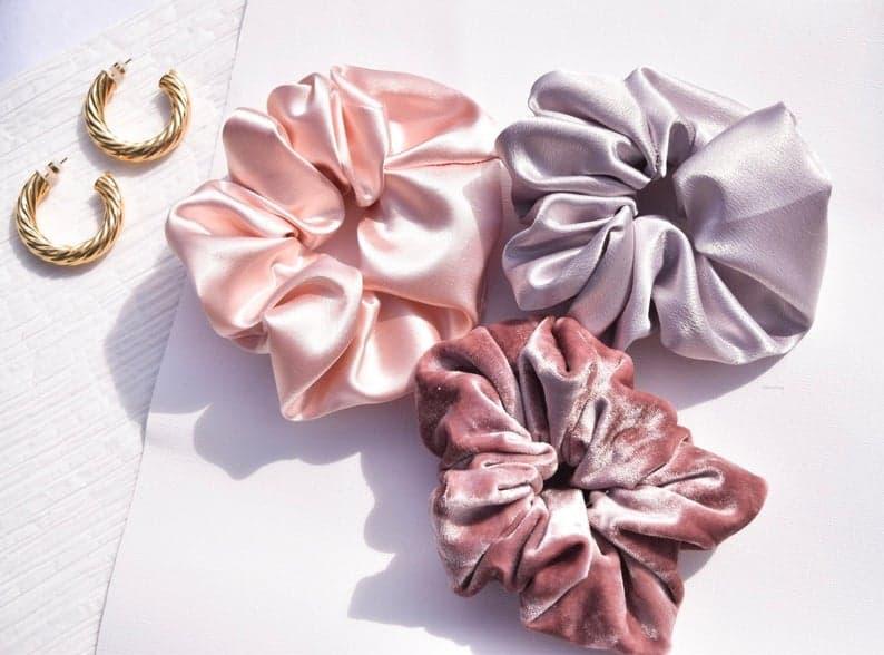 stocking stuffer ideas for women: silk scrunchies