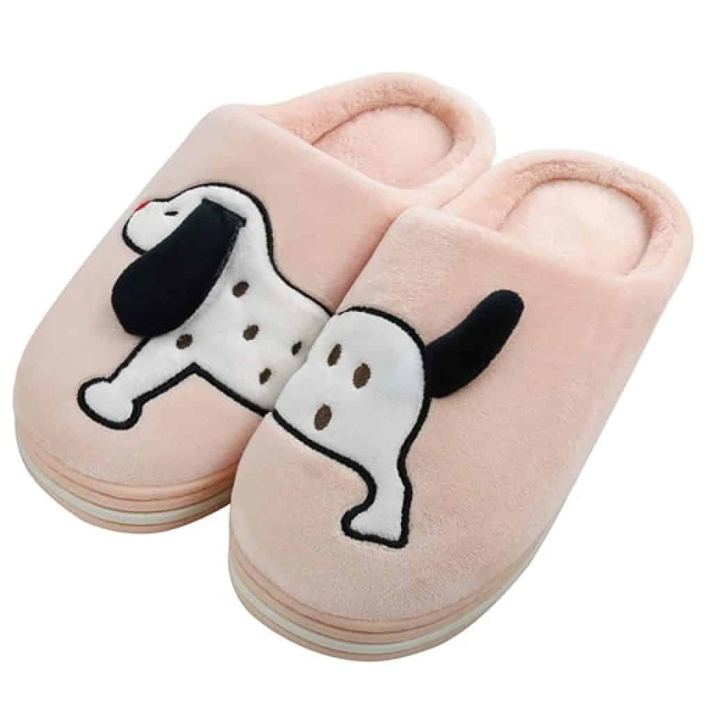 Pink Dog Slippers