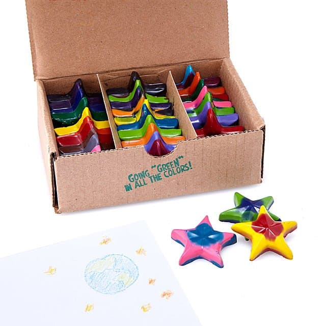 christmas stocking stuffer ideas for girls: eco stars recycled crayons