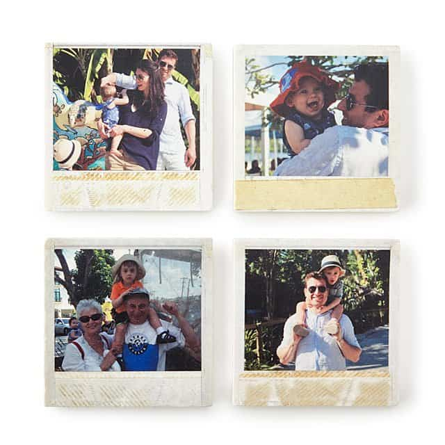 gifts for mom for christmas: Custom Travel Photo Coasters