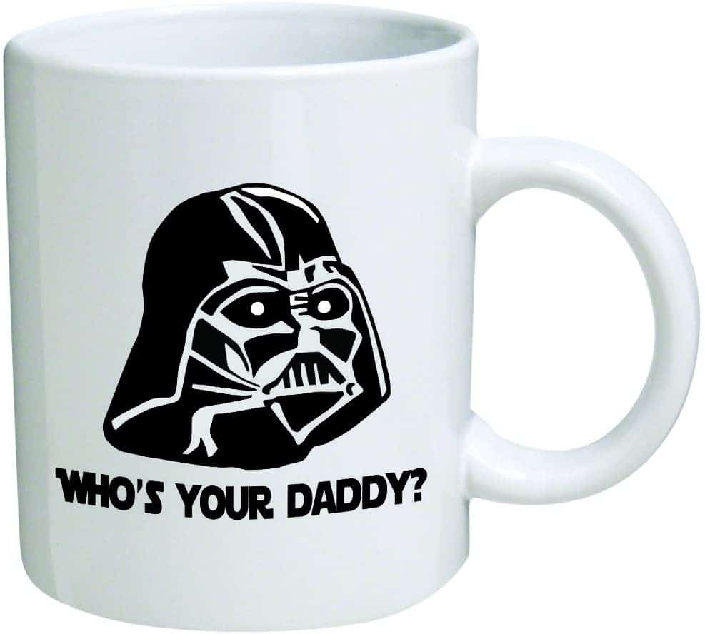 "star wars gift ideas: ""who's your daddy"" mug"