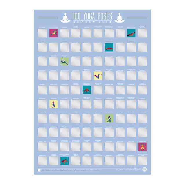 unique yoga gifts: 100 yoga poses scratch off poster