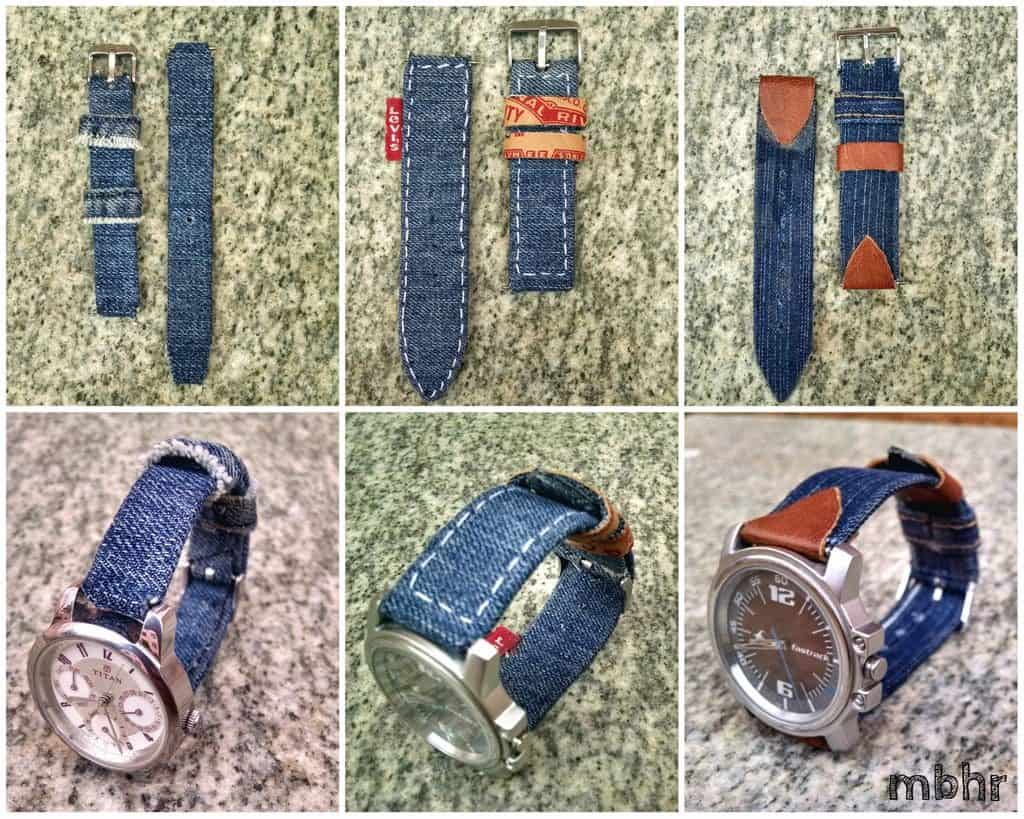homemade: Denim Watch Strap