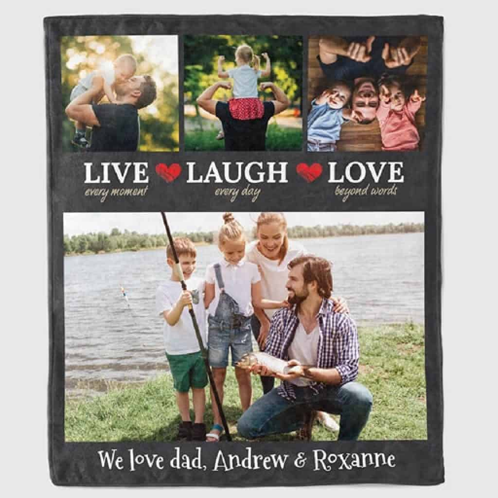 Family Photo Blanket - Christmas gifts for dad
