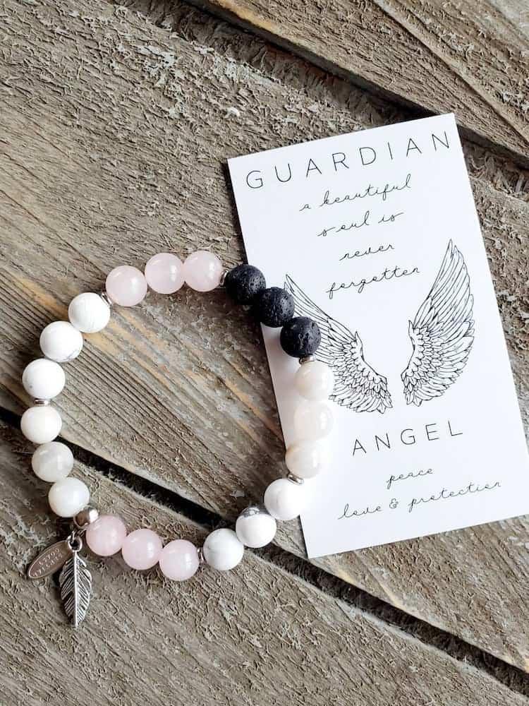 Guardian Angel Healing Stones Bracelet