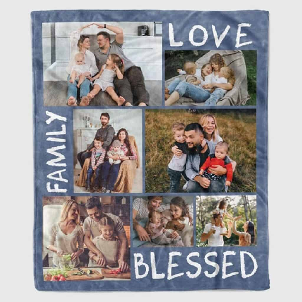 Photo Collage Blanket - Christian Gifts for Men