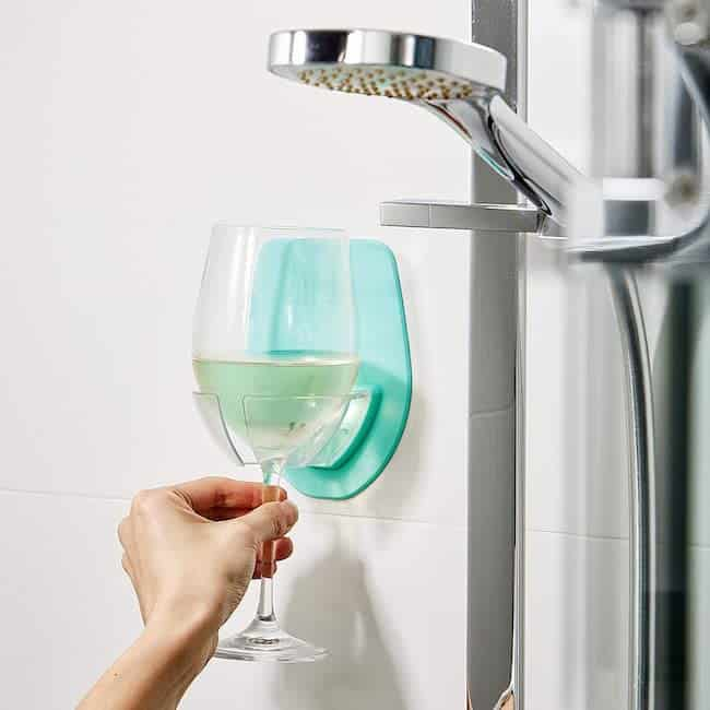 Silicone Wine Glass Holder for The Bath & Shower