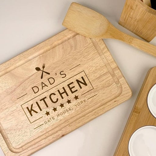 Christmas gifts for dad - wooden cutting board