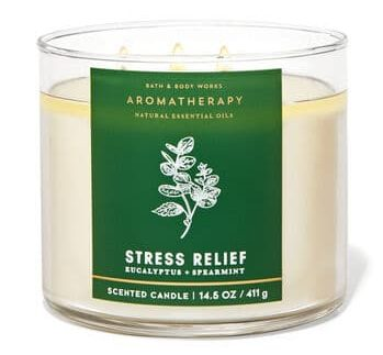stress-relief gifts - aromatherapy candle from bathandbodyworks