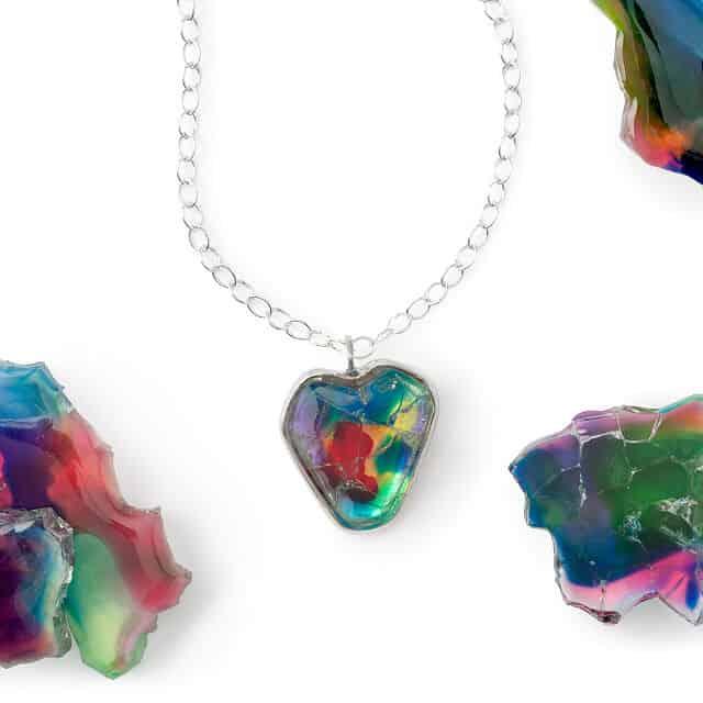cracked but not broken heart necklace
