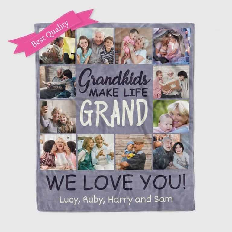 grandkids make life grand photo collage for grandmother
