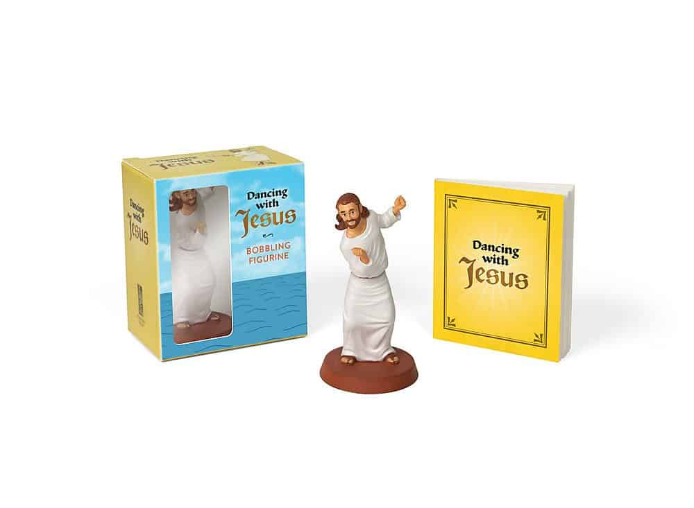 white elephant gifts ideas: dancing with Jesus figurine
