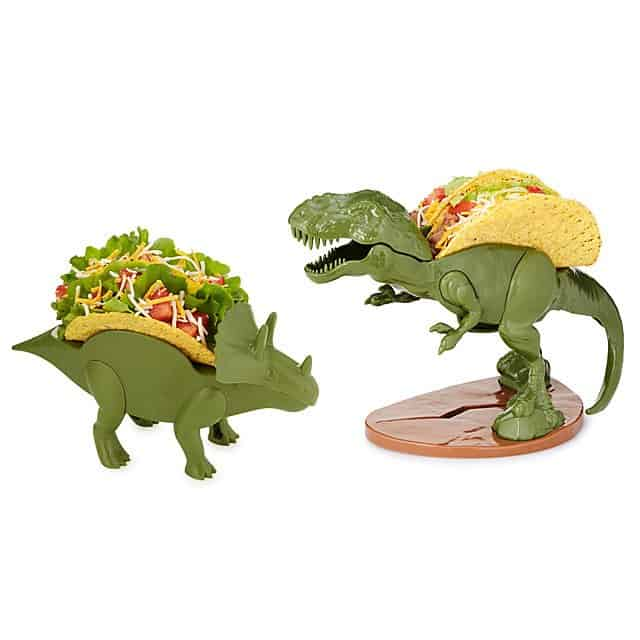 gag gift ideas: dinosaur taco holder