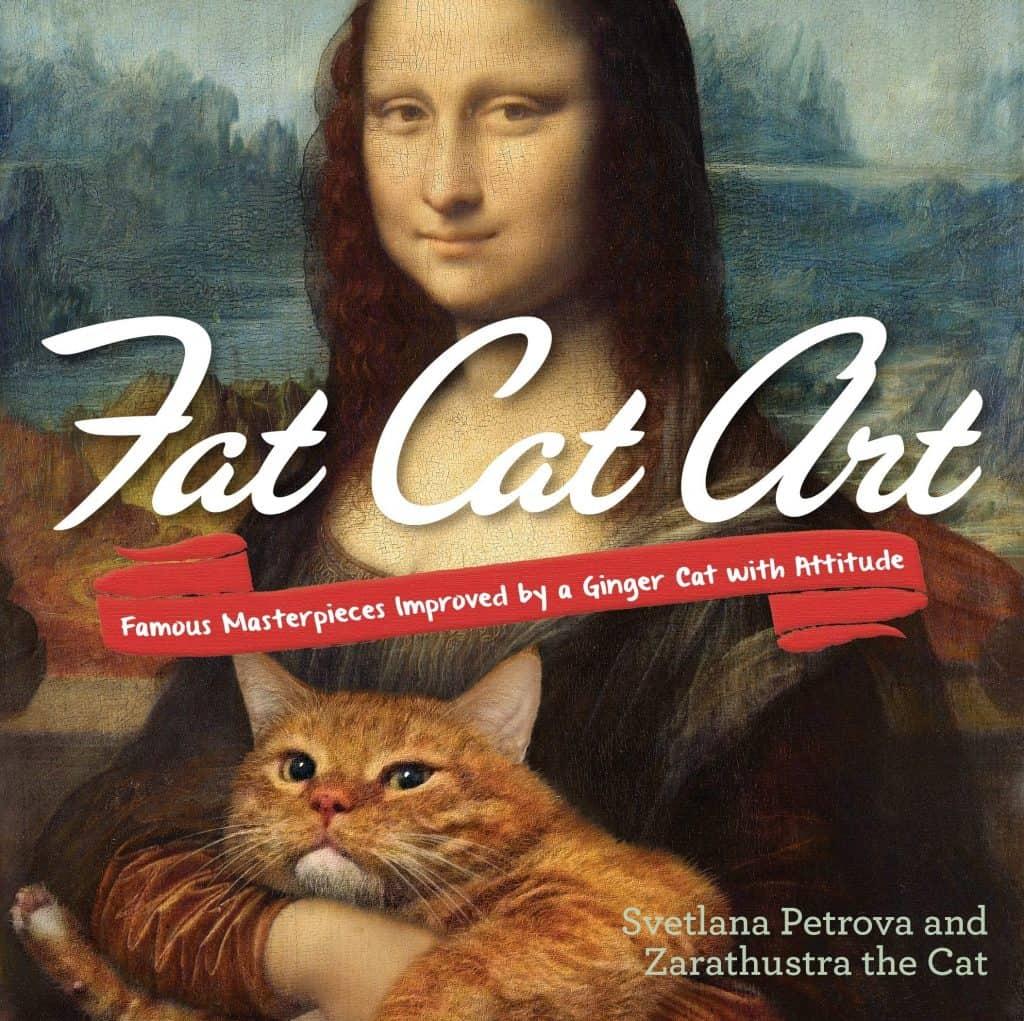 gag gifts ideas: fat cat art book