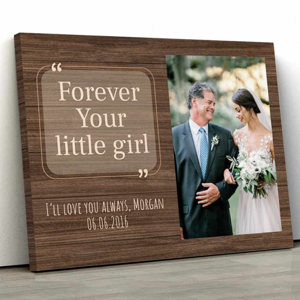 Wedding Gifts for Parents Father of the Bride First Man I Loved II Father of the Bride GIft Wedding Frame Personalized Wedding Frame