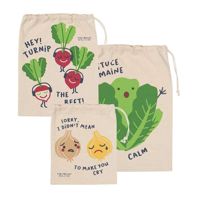 funny gifts for women: funny food plastic-free bag