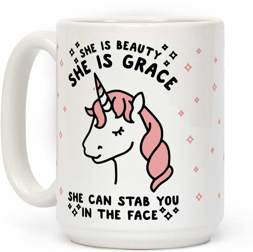 funny gifts for women: lookhuman mug