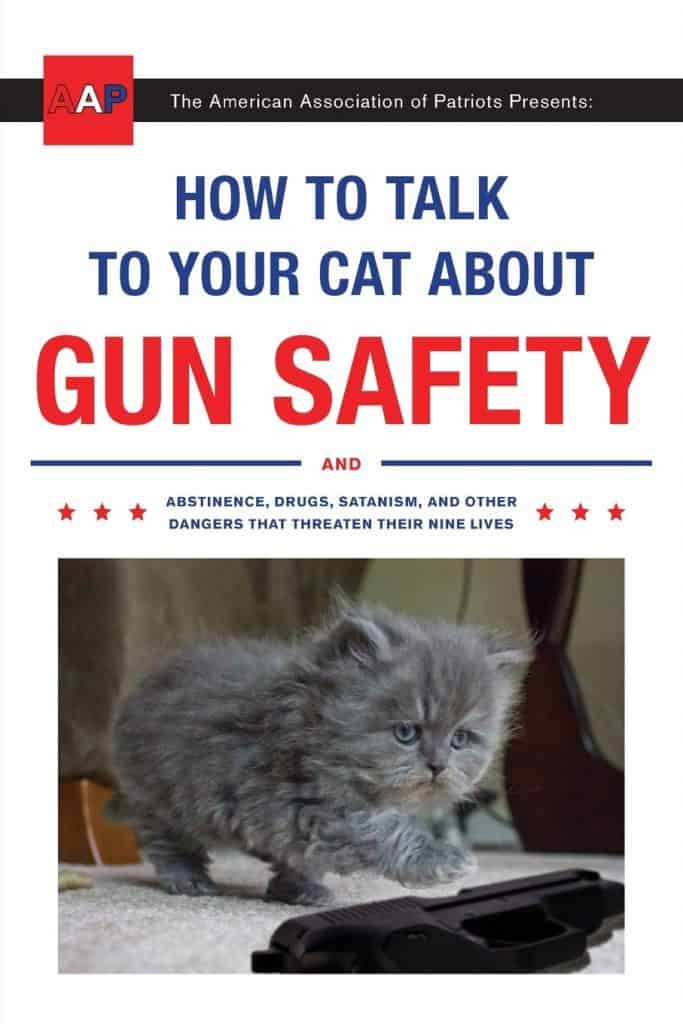 gag gift ideas: how to talk to your cat about gun safety