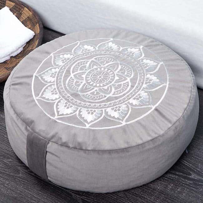 meditation and yoga lotus pillow