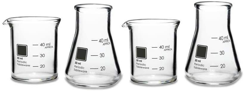 gag gifts for christmas exchange: periodic tableware shot glasses